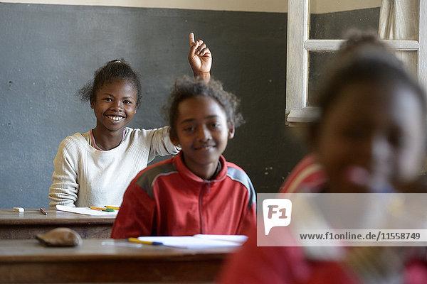 Madagaskar  Pupils in Fianarantsoa elementary school