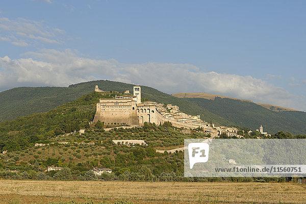 Italien  Umbrien  Assisi  Basilika des Heiligen Franz von Assisi