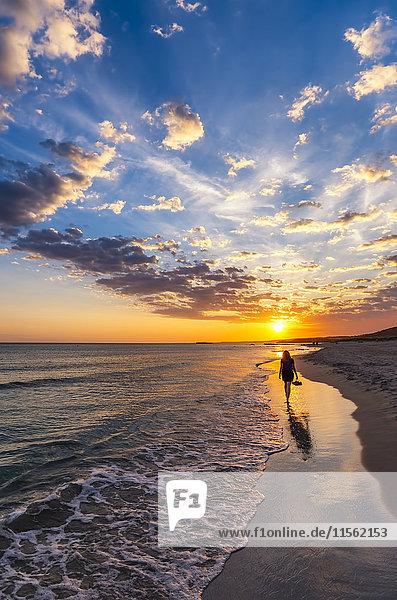 Spanien  Menorca  Son Bou  Sonnenuntergang