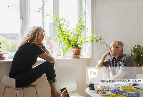 Denmark  Man and woman talking