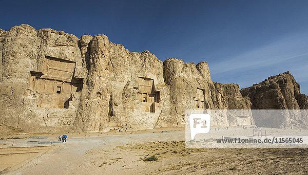 'Tombs of Darius II  Artaxerxes I  Darius I and Xerxes I; Naqsh-e Rustam  Fars Province  Iran'