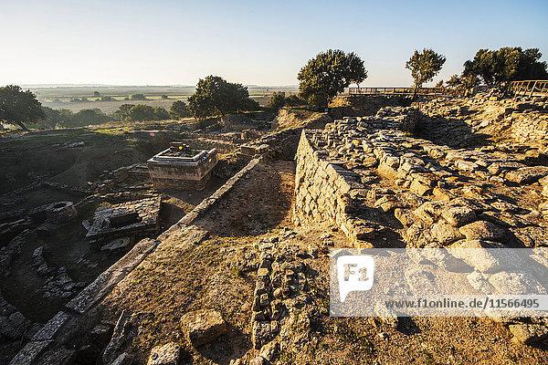 'Palace House VIM  archaeological site of Troy; Canakkale  Turkey'