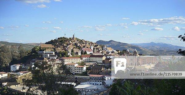 Historic centre with cathedral  Fianarantsoa  Fianarantsoa province  Madagascar  Africa