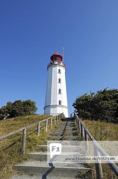 Leuchtturm Dornbusch  Insel Hiddensee  Ostsee  Mecklenburg-Vorpommern  Deutschland  Europa
