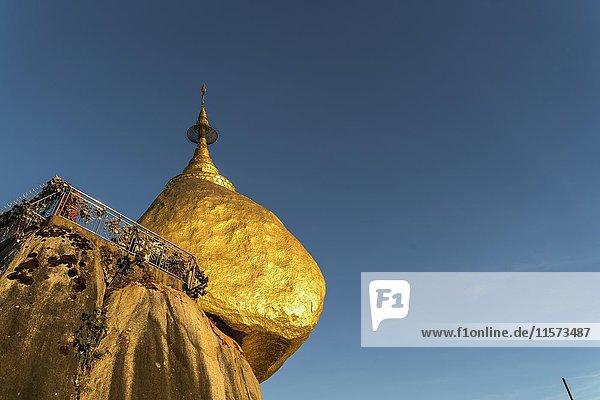 Golden Rock Kyaiktiyo Pagoda  Kyaikto  Myanmar  Asia