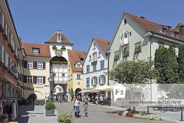 Unterstadttor  Altstadt  Meersburg  Bodensee  Baden-Württemberg  Deutschland  Europa