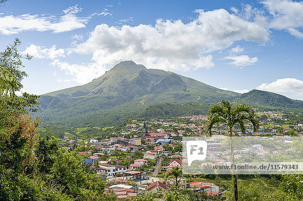 Martinique  Le Morne-Rouge  at the foot of the Mount Pelée