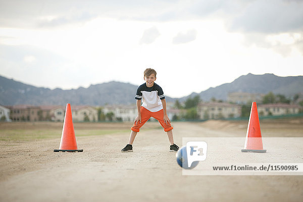 Boy in goal