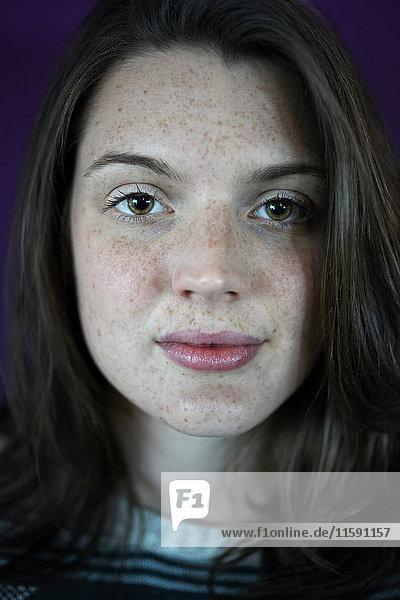 Nahaufnahme des Gesichts einer Frau