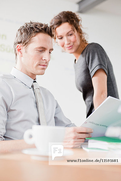 Man and woman planning