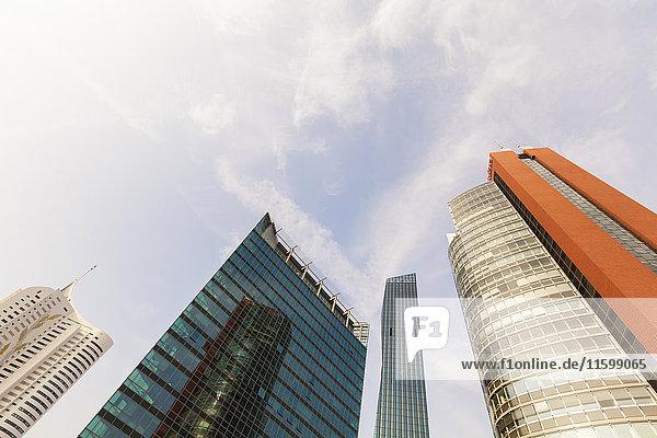 Österreich  Wien  Donau City  DC Tower 1 und weitere Wolkenkratzer