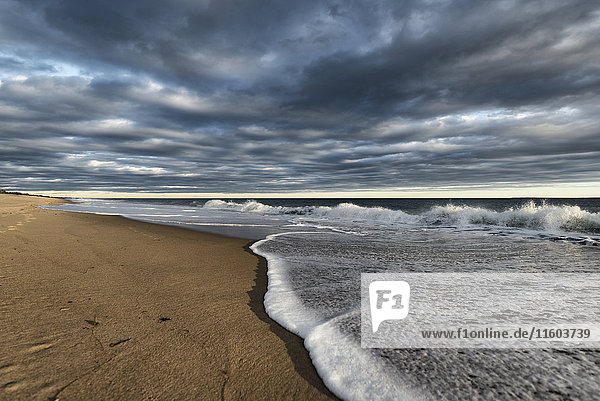 Clouds over ocean beach
