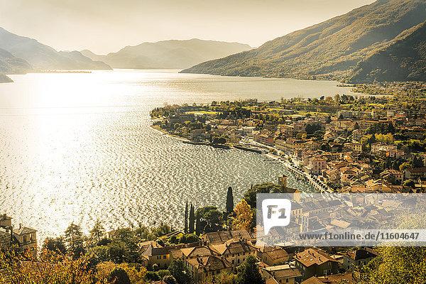 Scenic view of waterfront  Gravedona  Lake Como  Italy