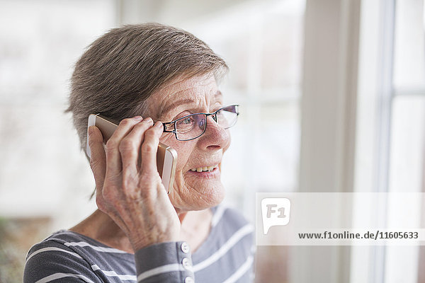 Senior woman on the phone