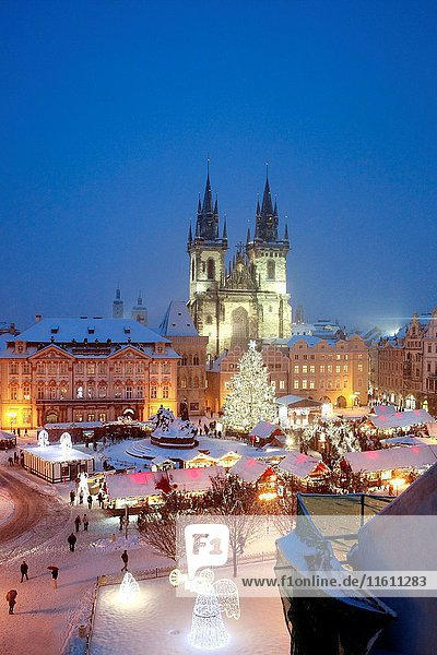 Czech republic  prague - christmas market at the old town square.