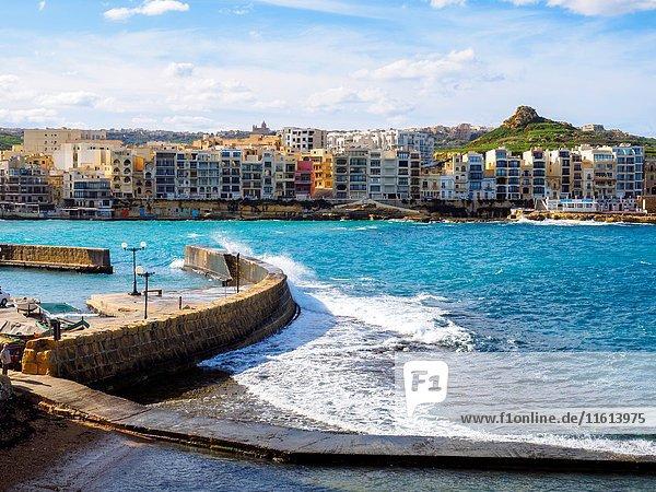 Harbour of Marsalforn - Gozo  Malta.