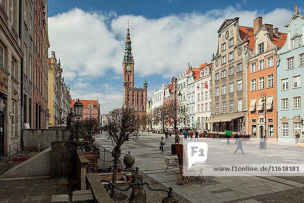 Dlugi Targ (Long Market) in Gdansk old town  Poland.