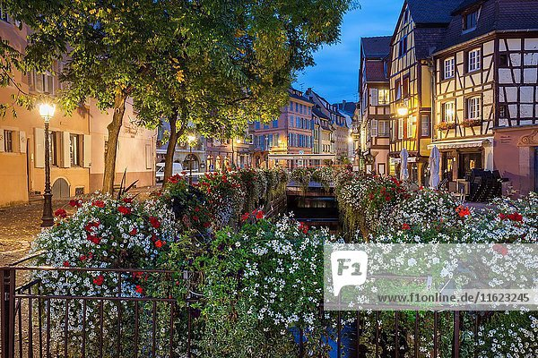 Dawn in Colmar old town  Alsace  France.