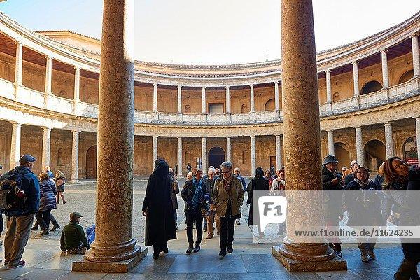 Palacio de Carlos V  Alhambra de Granada  Granada  Andalusia  Spain  Europe.