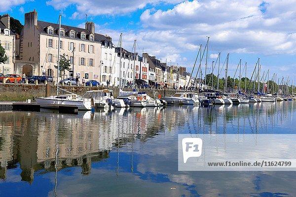 Vannes  City  Old Town  Port  Morbihan  Bretagne  Brittany  France  Europe..