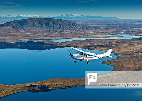 Cessna flying over South Coast Iceland.