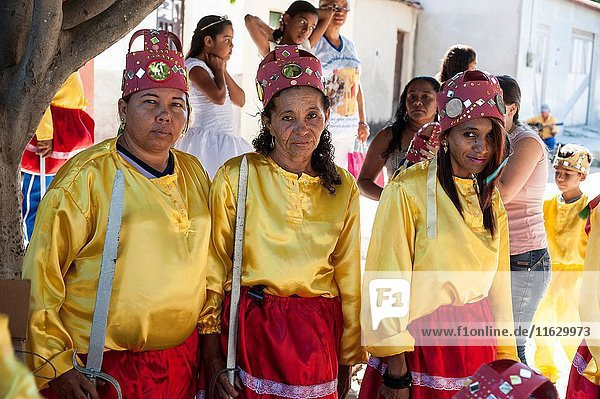 Feast of Our Lady of the Rosary. Congo dancers. City: Milagres  State: Ceará  Country: Brazil.
