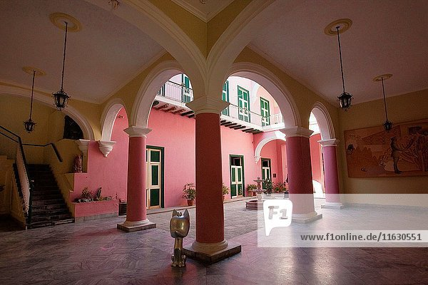 View to the Interior of the Casa del Arabe,  a Palace today used as a Museum in Havana Vieja,  La Habana,  Cuba,  Central America