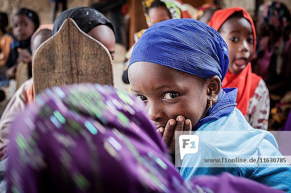 Girls studying  in daara ( Koranic school)  Mbour  Senegal.