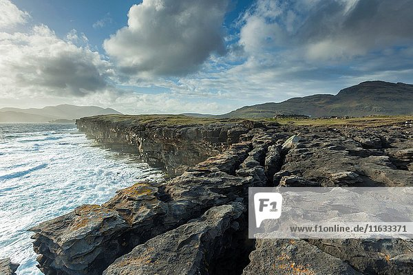 Spring afternoon on the coast of county Donegal  Ireland.