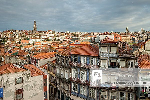 Autumn morning in Port old town  Portugal.