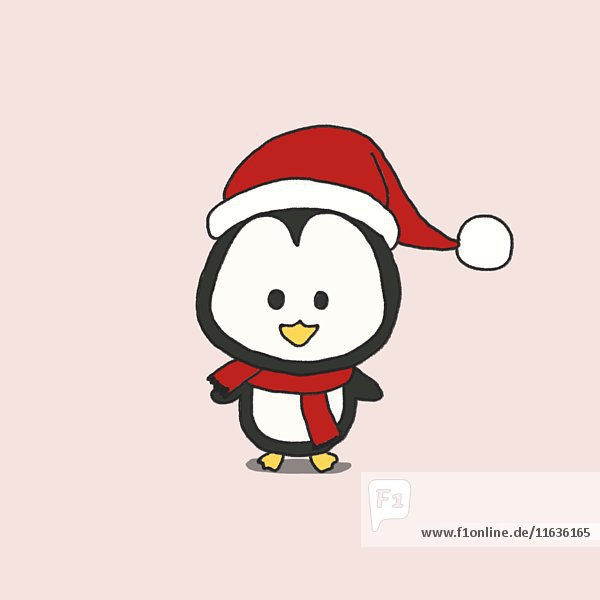 Penguin Wearing Santa Hat Animation