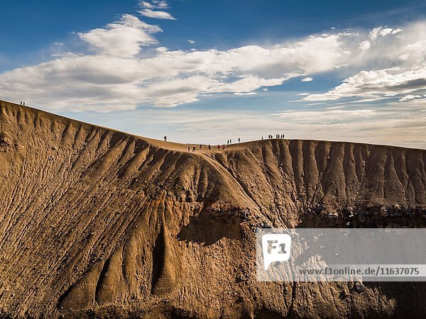 Vita Crater. Viti is an explosion crater translated means 'Hell' located by the Krafla caldera in Northern Iceland. Drone photography