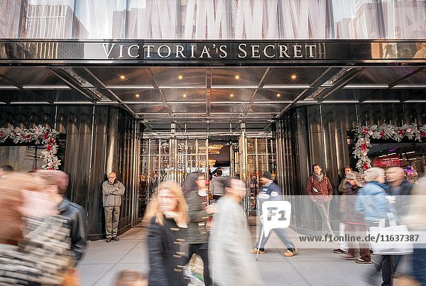 The new Victoria's Secret store on busy Fifth Avenue in Midtown in New York
