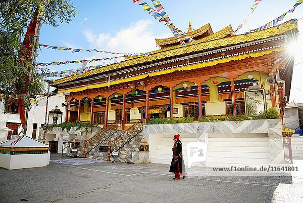 India  Jammu and Kashmir State  Himalaya  Ladakh  Indus valley  the city of Leh at an altitude of 3500 metres  Main Bazaar Road  Buddhist temple of Gompa Soma (Chokhang)