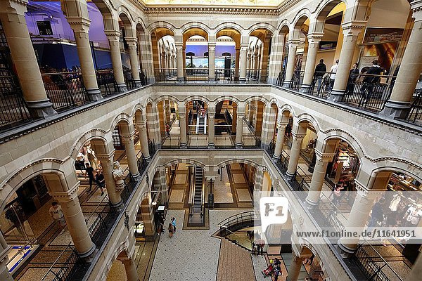 The great hall of Magna Plaza shopping mall in Amsterdam  Netherlands.