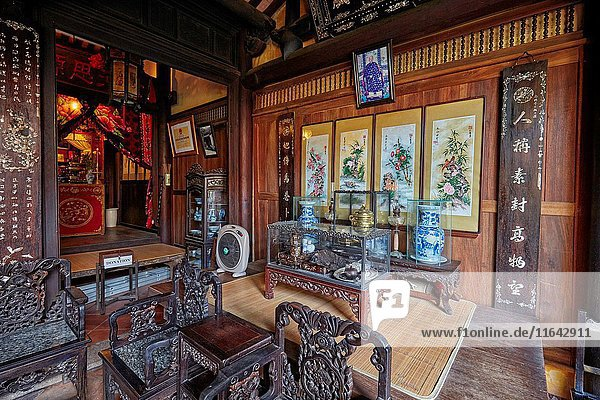 Interior of the Old House of Duc An. Hoi An Ancient Town  Quang Nam Province  Vietnam.