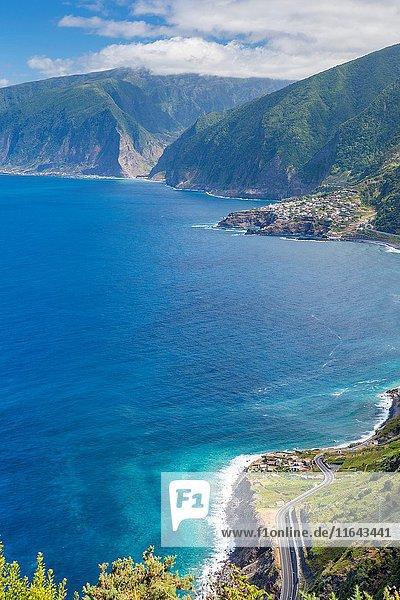 North Coast of Madeira seen from Miradouro da Ribeira da Janela  Ribeira da Janela  Madeira  Portugal.