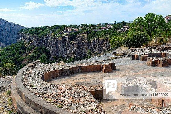 Excavation in the Hellenistic sun temple of Garni  Kotayk Province  Armenia  Caucasus  Middle East  Asia.