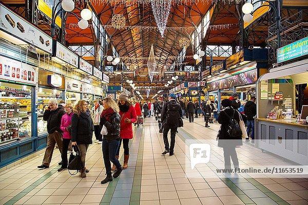 Central Market Nagycsarnok. Budapest Hungary  Southeast Europe.