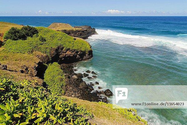 Gris-Gris sea cliffs  Souillac  Mauritius  Indian Ocean  Africa