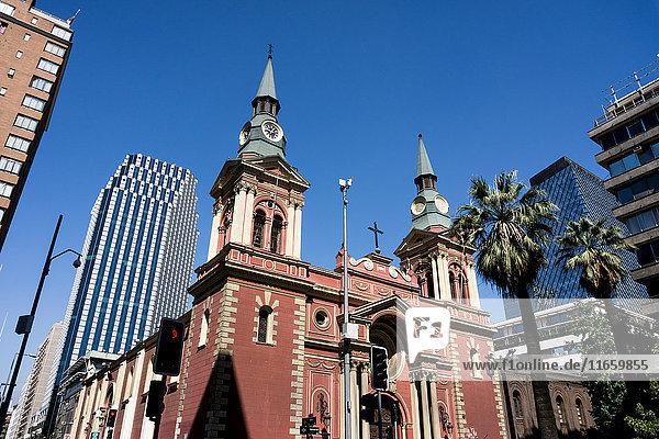 Low angle view buildings  Santiago de Chile  Chile
