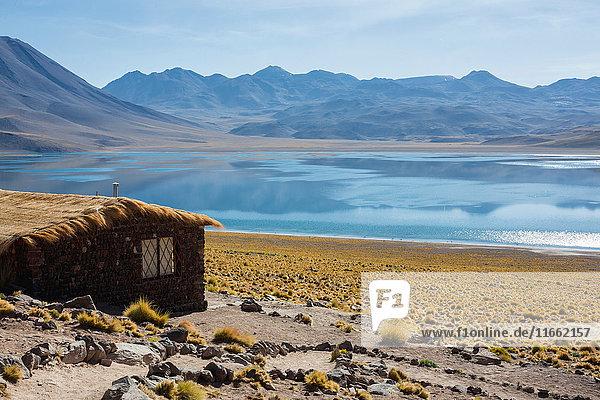 Shack by lake miscanti  San Pedro de Atacama  Chile