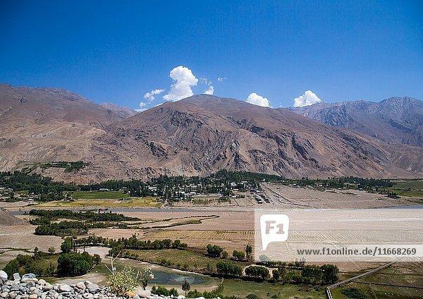 Tajikistan seen from the afghan border  Badakhshan province  Qazi deh  Afghanistan.