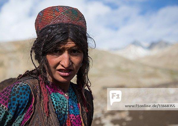 Wakhi nomad woman  Big pamir  Wakhan  Afghanistan.