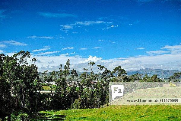 Andean landscape. El Tambo. Ingapirca. Ecuador.