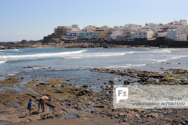 Banaderos beach and village. Arucas neighborhood. Gran Canaria  Las Palmas  Canary Islands  Spain.