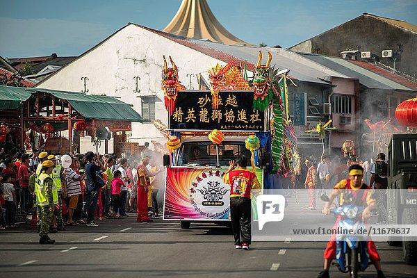Hong San Si temple procession in Kuching  Sarawak  Malaysia.