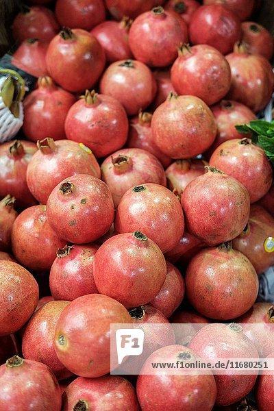 Pomegranates  Punica granatum.
