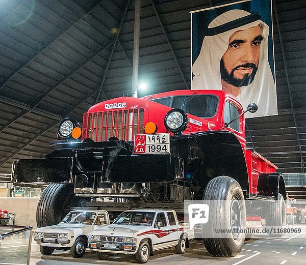 Abu Dhabi   United Arab Emirates - The Emirates National Auto Museum houses around 200 cars belonging to HH Sheikh Hamad Bin Hamdan Al Nahyan. The collection includes off-road vehicles and classic American cars and the world's largest truck.