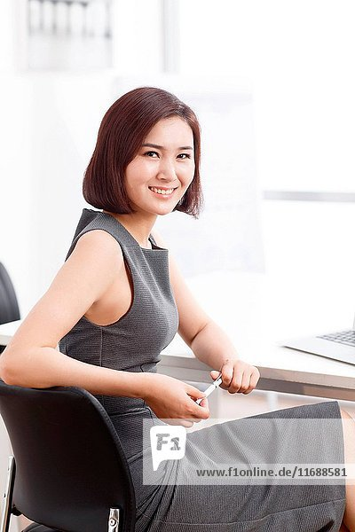 Portrait of businesswoman in office